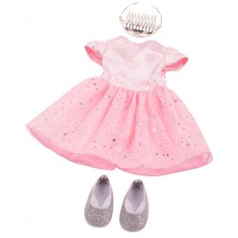 Götz, hercegnős babaruha és csillogó kis cipő, korona nélkül 20% kedvezménnyel